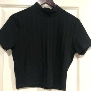 Urban Outfitters cropped black shirt